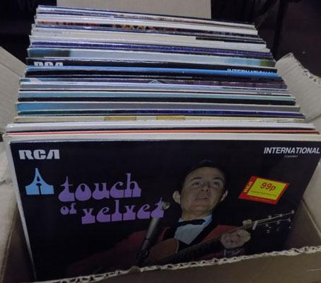 Box of vintage records