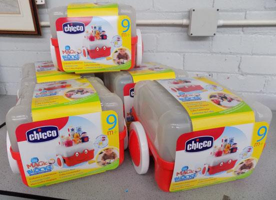 5x Chicco magic blocks-new