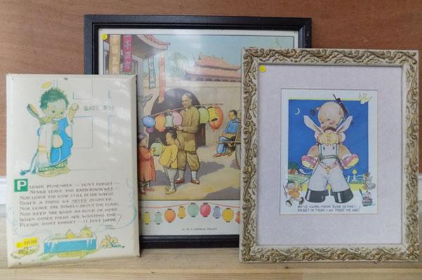 3 childrens illustrations including Mabel Lucie Attwell