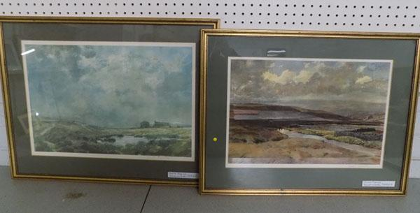 Pair of Joseph Pighill's 'Haworth Moors' signed prints