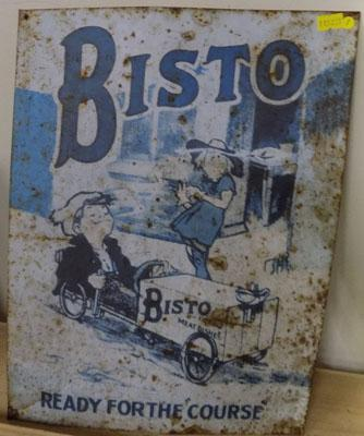 Bisto ready for the 'Course' tin sign