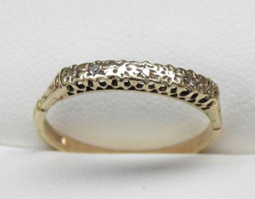 9ct gold diamond half eternity ring size L1/2