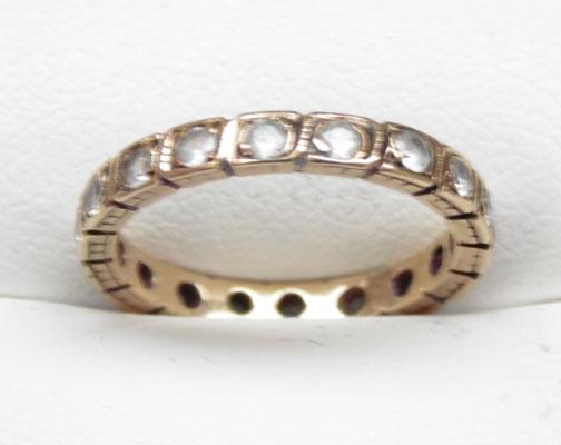 9ct gold white spinner full eternity ring size L