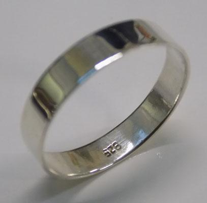 925 silver wide band ring - approx. size W