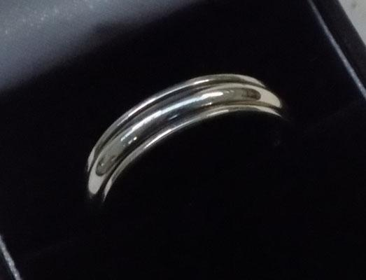 925 silver spinner ring approx. size T