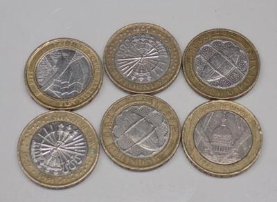 6  x £2 coins, limited editions