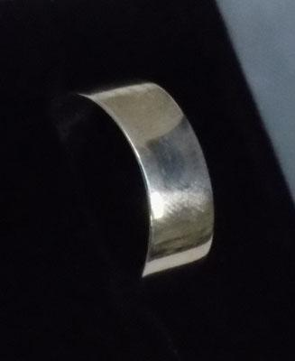 925 silver wide band ring size approx. S1/2