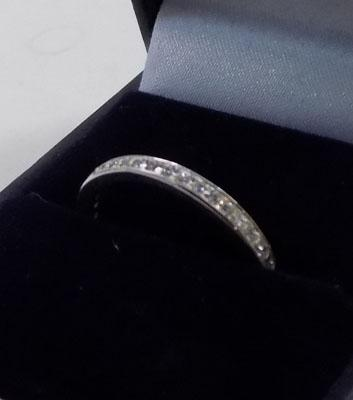 925 silver full eternity ring approx. size Q1/2