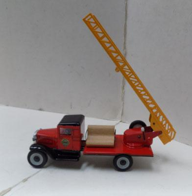 Tinplate vintage Bedford 1920's fire engine