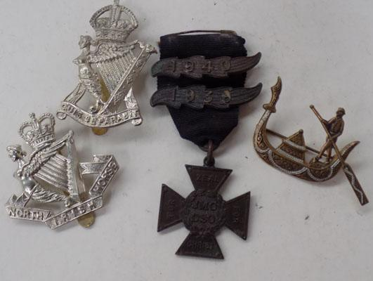 Collection of military medals and badges