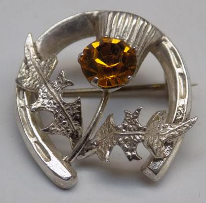 Sterling silver Scottish Thistle brooch - makers - Ward Brothers