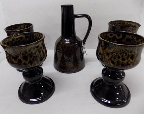 Jug and 4 goblets