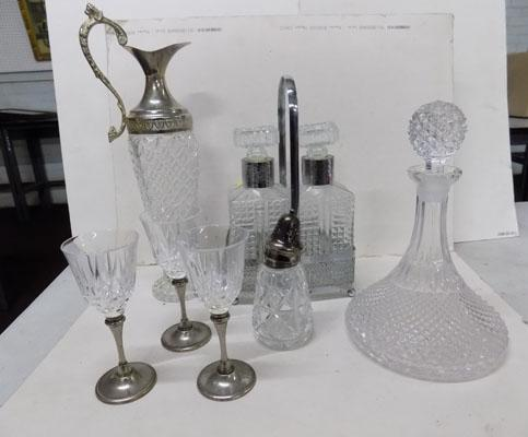 Selection of cut glass inc decanter set