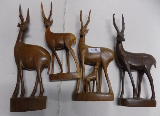 Selection of wooden animals