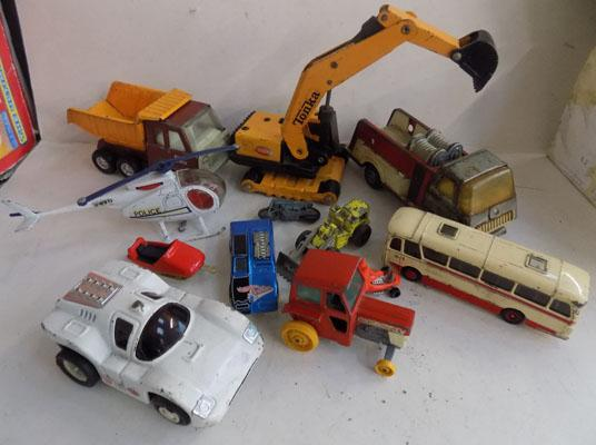 Selection of vintage die-cast incl. Tonka