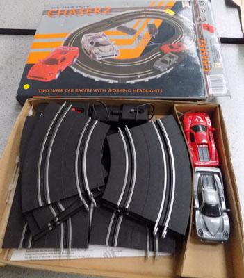 Chaserz boxed slot car set-fully complete