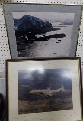 2 pictures of Nimrod aircraft-signed