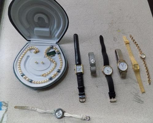 7 watches incl. jewel and pearl set