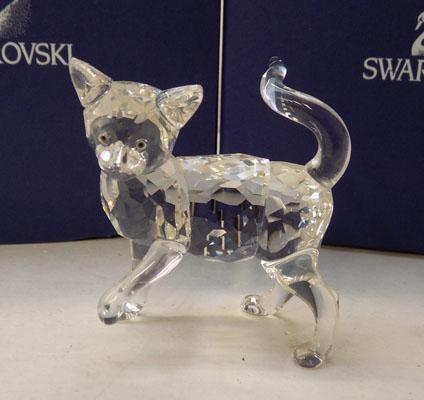Swarovski cat with Tail in air