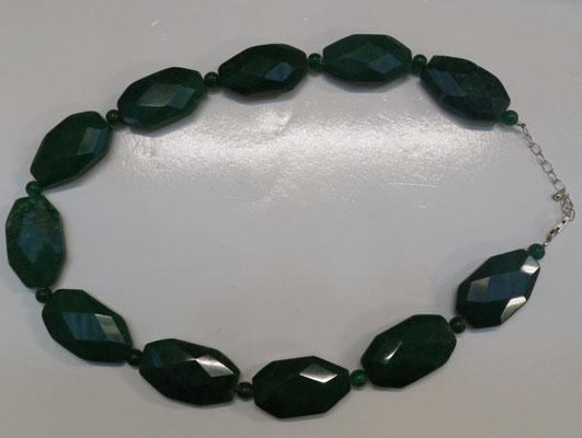 925 silver and green gemstone necklace