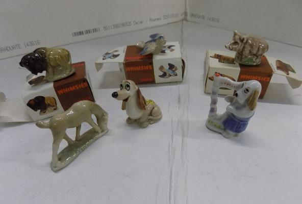 Selection of vintage Wade Whimsies (boxed)