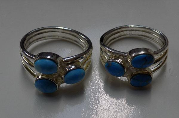2x 925 silver rings