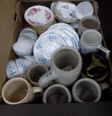 Box of ceramics, incl. Aynsley, Queen Anne