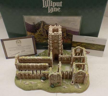 Lilliput Lane 'Fountains Abbey', limited edition,  box only sold in America