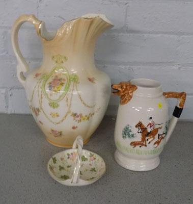 3 pieces of vintage pottery, incl. Devonware