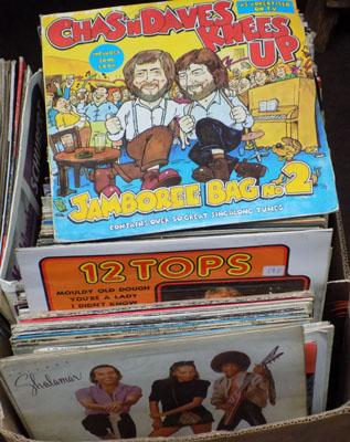 Box of LPs, incl. Chas & Dave