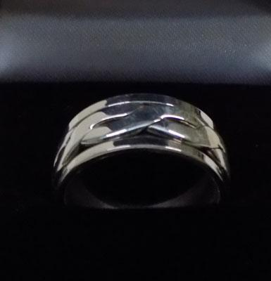 925 silver spinner ring approx. size O