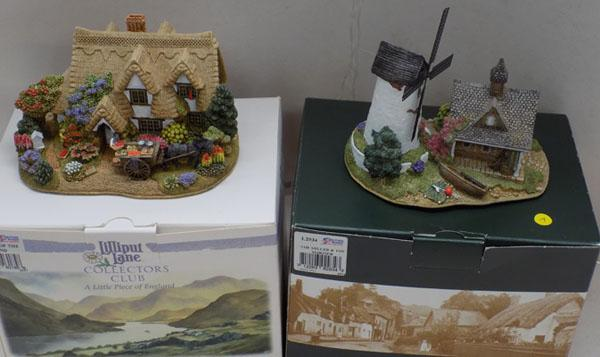 Lilliput Lane 'The Miller & the Mariner' + 'Fruits of the Land' with box