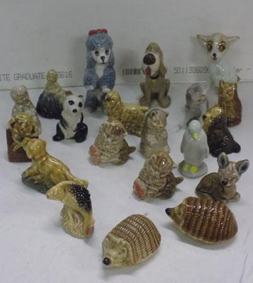 Large selection of Wade whimsies
