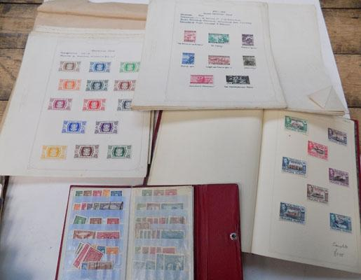 2 books & a collection of stamp sheets