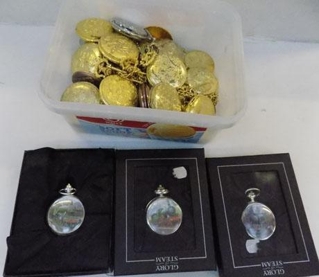 Selection of pocket watches, require batteries