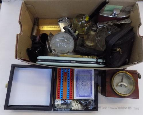 Box of unusual items inc paperweights