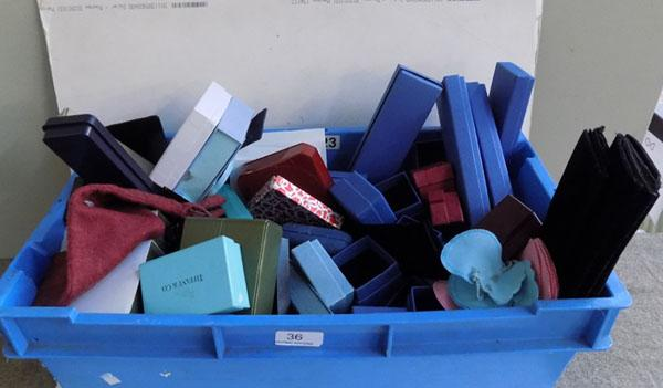 Large box of assorted jewellery boxes