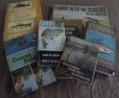 Selection of fishing books - mostly vintage