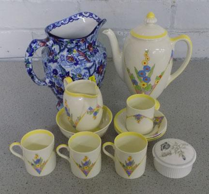 Selection of pottery items, incl. Royal Doulton & Ringtons