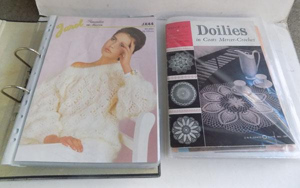 Collection of vintage wool patterns & crochet patterns