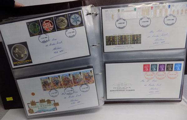 Very well filled albums of first day covers