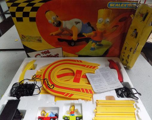 Vintage 'The Simpsons' scalextric set-complete