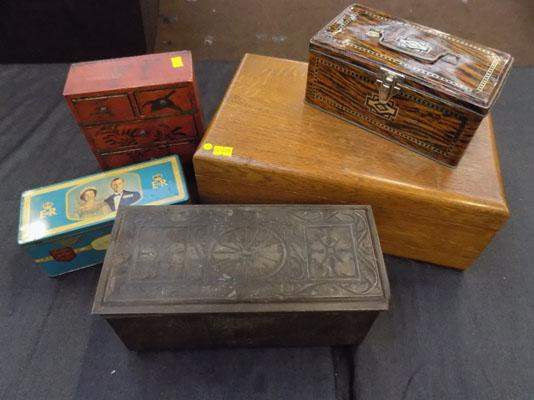 Selection of collectable boxes of tins
