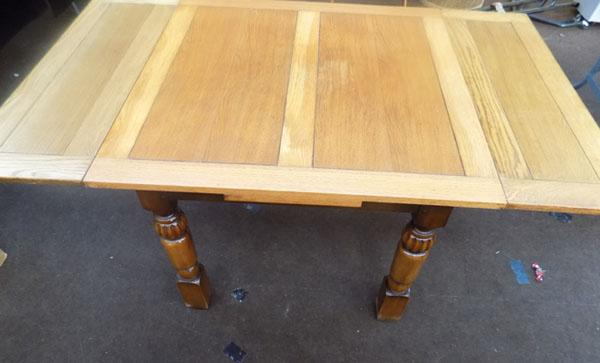 Art and crafts oak dining table