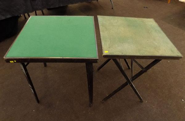 2x Vintage fold up card tables