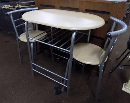 Space saver table and 2 chairs