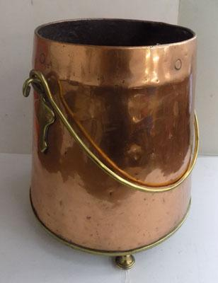 Copper and brass bucket