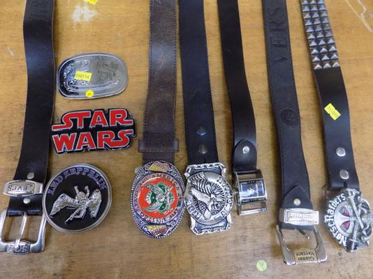 Selection of belts & buckles