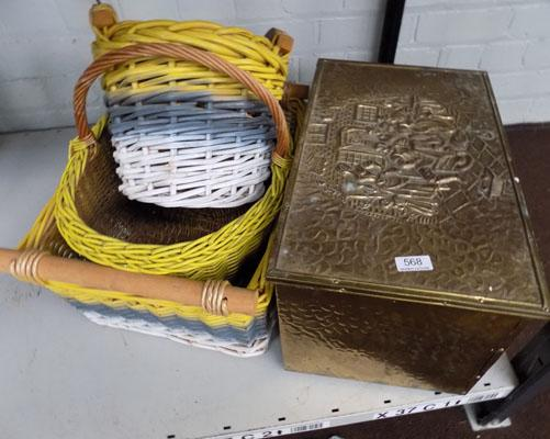 Coal box and baskets