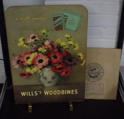 Vintage Wills's Woodbines advertising sign